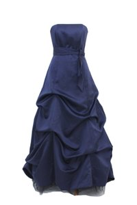 David's Bridal Navy Blue 81123 Dress