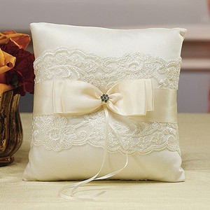 Beverly Clark Ivory French Lace Ring Bearer Pillow
