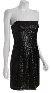 BCBGMAXAZRIA Bcbg Strapless Sequin Mini Sweetheart Bodice Side Boning Non-slip Rubber Grip Banding Zipper Straight Skirt Fully Dress
