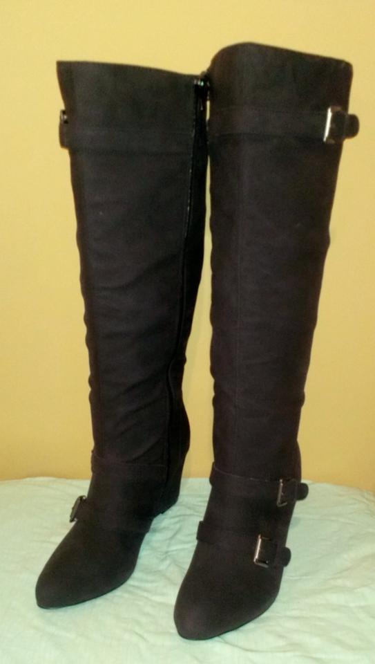 Lane Bryant Black Boots Wide Calf Wedge Boot Size 11 53