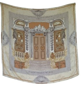 Louis Vuitton Louis Vuitton Silk Jacquard Print Scarf of Hotel de Mr Menier au Parc Monceaux a` Paris