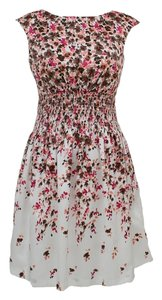 Jessica H short dress White Printed Floral on Tradesy