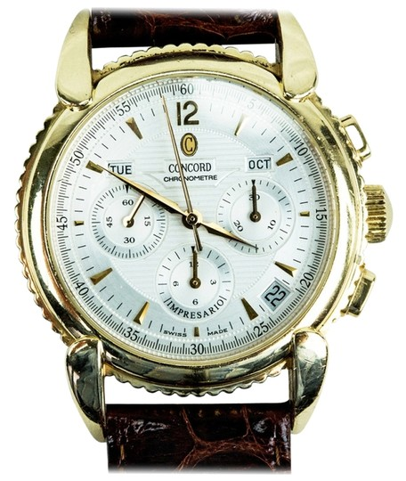 Concord Concord Yellow Gold Impresario Triple-Calendar Chronograph Wristwatch with Date