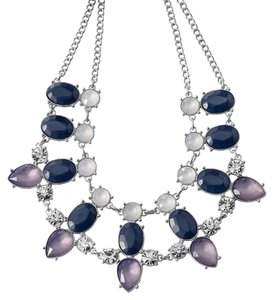 Lia Sophia Stunning Purple & Lavender Lia Sophia Statement Gemstone Necklace
