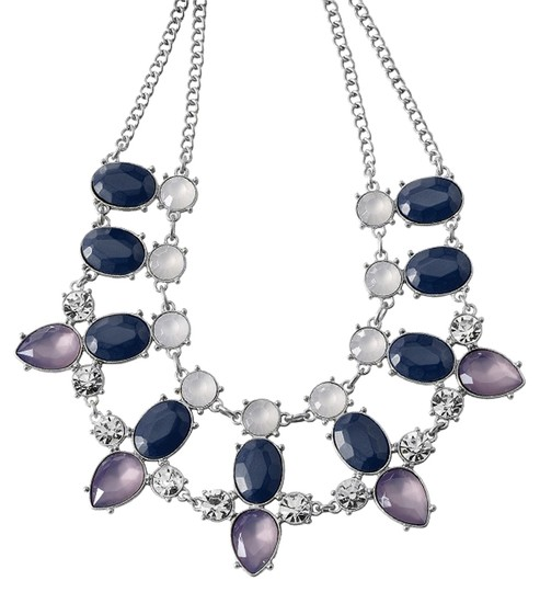 Preload https://item4.tradesy.com/images/lia-sophia-purple-and-lavender-and-navy-and-silver-stunning-statement-gemstone-necklace-5530363-0-0.jpg?width=440&height=440