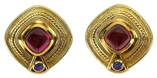 Seidengang Seidengang Rhodolite Garnet Iolite Gold Earrings
