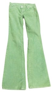 7 For All Mankind Boot Cut Pants Green Multi
