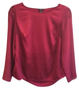 Ann Taylor Top Dark Red