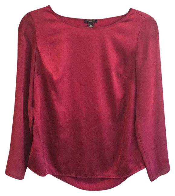 Preload https://item2.tradesy.com/images/ann-taylor-dark-red-chiffon-sleeved-satin-blouse-size-0-xs-5530501-0-0.jpg?width=400&height=650