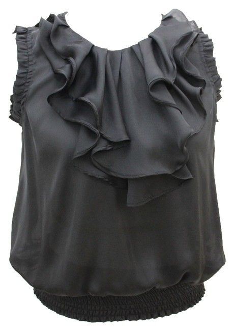 Romeo & Juliet Couture And Chiffon Sexy Casual Top Black