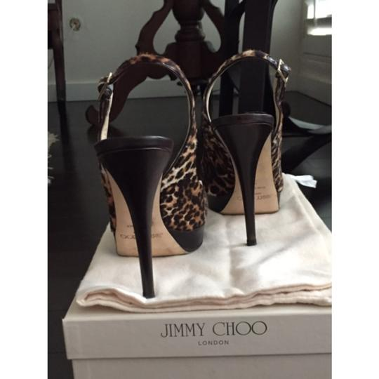 Jimmy Choo Black,brown,leopard print Platforms