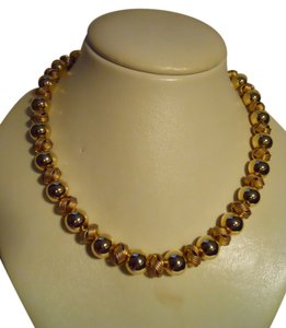 Talbots Talbots gold beaded necklace