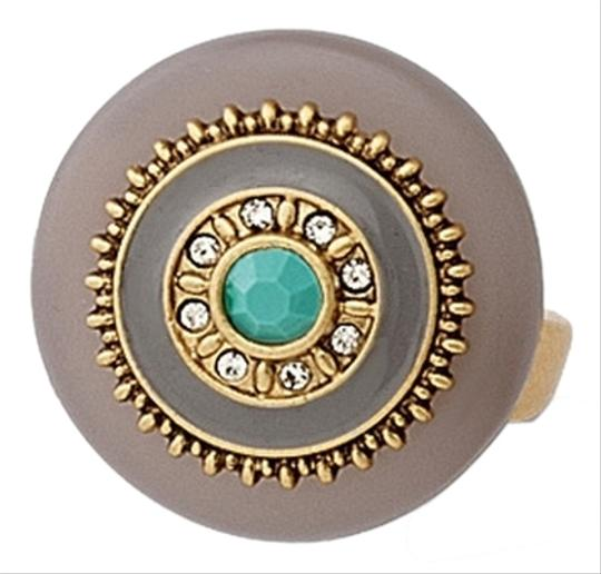 Lia Sophia Lia Sophia Taupe and Gold Statement Ring