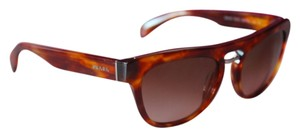Prada Prada SPR 10P Aviator Wired Havana Sunglasses