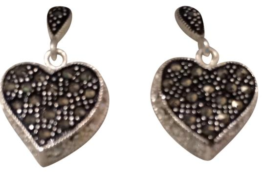 Other Sterling Silver Black Diamond Accent Earrings