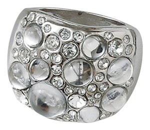 Lia Sophia Lia Sophia Silver Cluster Ring with Clear Gemstones