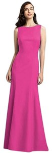 Dessy Full Length Sleeveless Crepe Trumpet Slirt Dress