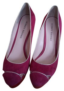Audrey Brooke Platform Suede blue, pink, silver, red Pumps