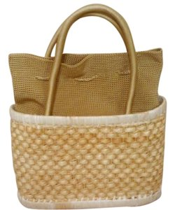The Sak Basket Cornhusk Tote in Beige