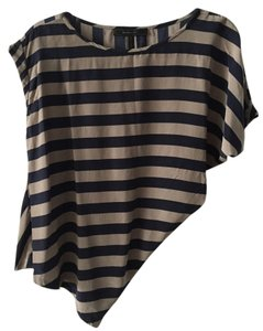 BCBGMAXAZRIA Top blue grey