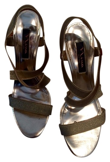Nina Sandal High Heel Gold Formal