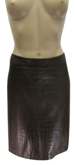 Preload https://img-static.tradesy.com/item/5532136/max-mara-brown-s-snake-embossed-leather-with-inverted-pleat-knee-length-skirt-size-8-m-29-30-0-0-650-650.jpg