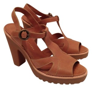 Marc by Marc Jacobs Leather Platform Rubber Tan Platforms
