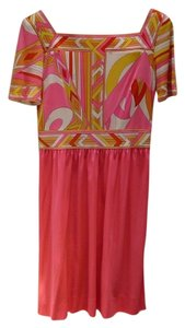Emilio Pucci short dress Pink multi on Tradesy