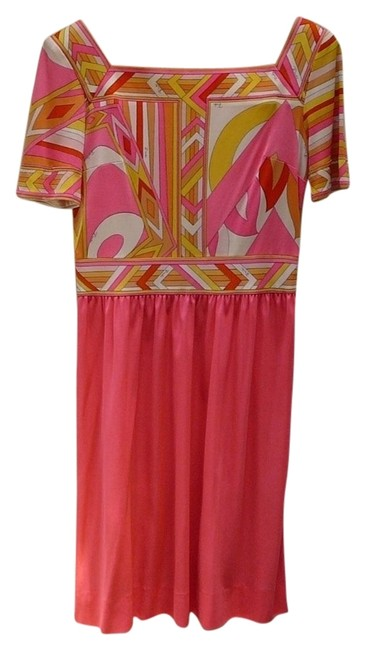 Preload https://item4.tradesy.com/images/emilio-pucci-dress-pink-multi-5532253-0-0.jpg?width=400&height=650