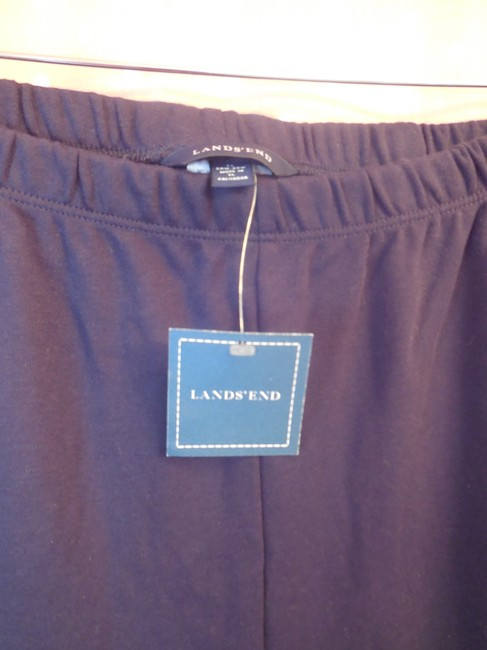 Lands' End Plus-size New With Tags Comfortable Slash Pockets Relaxed Pants Navy
