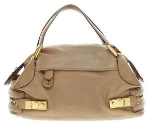 Chloé Leather Beige Satchel