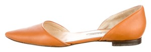 Manolo Blahnik Caramel Tan Leather Brown Flats