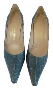 Gianni Milanesi Manolo Crocodile Manolo 40 Chanel 40 Jimmy Choo 40 Crocodile Blue Pumps