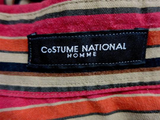 CoSTUME NATIONAL Stripe Button Down Collared Long Sleeve Small Shirt