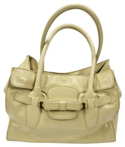 J.Crew Patent Leather Satchel in Off-white