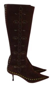 Jimmy Choo Chanel 39.5 Gucci 39.5 Brown Boots