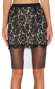 Endless Rose Embroidered Crochet Top Skirt Black