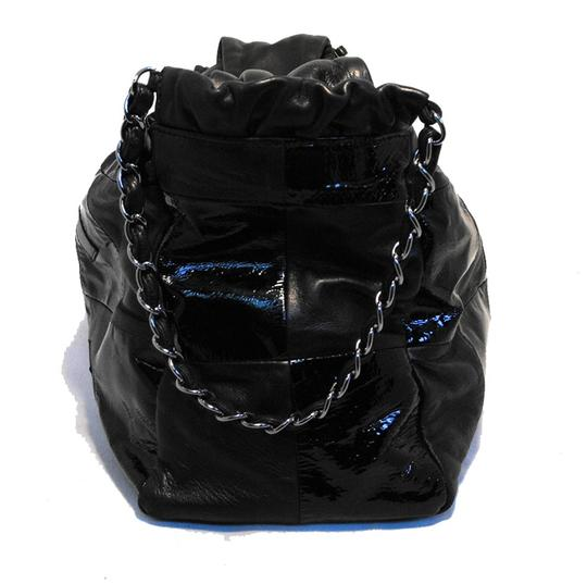 Chanel Patent Leather Lambskin Tote in black