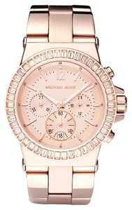 Michael Kors LIKE NEW! Women's Michael Kors Baguette-Bezel Chronograph Watch MK5412
