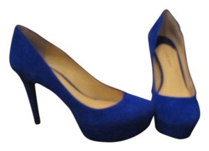 Gianni Bini Suede Leather Deep Sea Blue Pumps