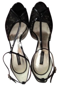 Dolce&Gabbana Black Patent Leather and Lace Pumps