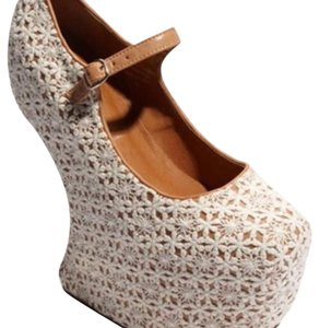 Jeffrey Campbell Lady Gaga Lace Pink Cream Platforms