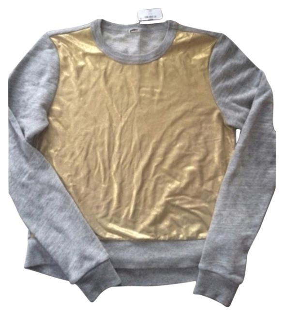 Preload https://item2.tradesy.com/images/jcrew-gray-and-gold-sweatshirthoodie-size-4-s-5534626-0-0.jpg?width=400&height=650