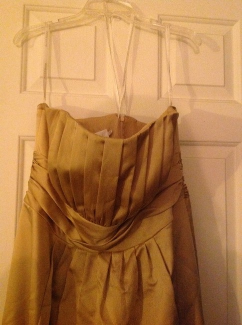 Item - Gold Polyester (Looks/Feels Silk) 84066 Formal Bridesmaid/Mob Dress Size 18 (XL, Plus 0x)