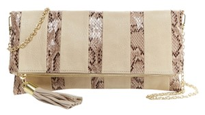 Steve Madden Natural Clutch