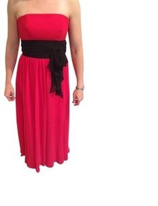 Alfred Angelo Red Long Chiffon Traditional Bridesmaid/Mob Dress Size 4 (S)