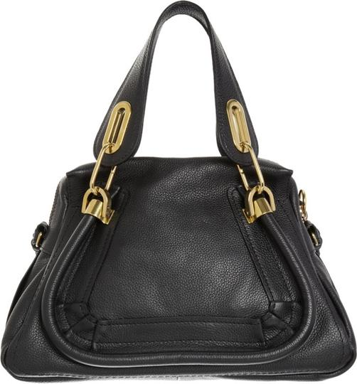 Chloé Leather Italy Paraty Satchel in Black Image 1