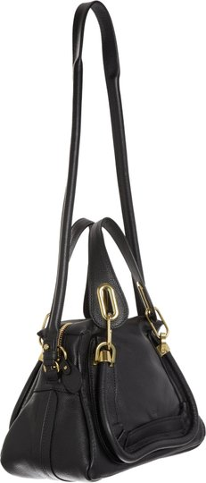 Chloé Leather Italy Paraty Satchel in Black Image 2