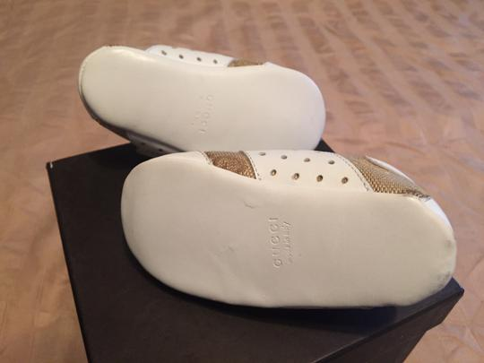 Gucci White leather with tan fabric Boots