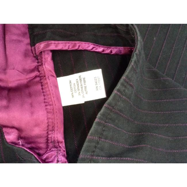 Banana Republic Capris Black with magenta pinstripes